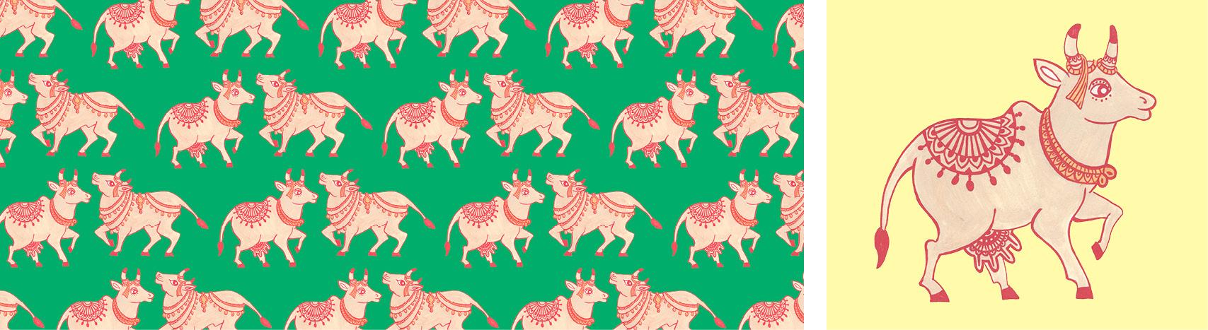 motif vache sacrée Florie Nguyen Van