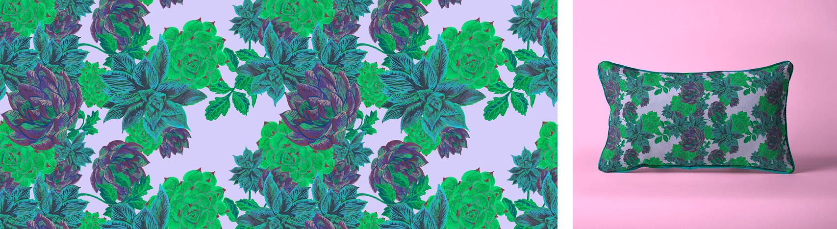 motif succulentes Florie Nguyen Van