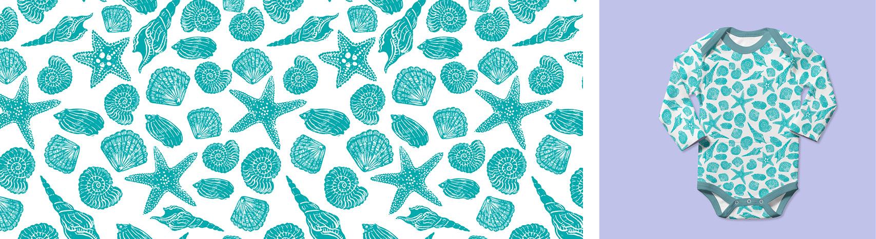 motif coquillages Florie Nguyen Van