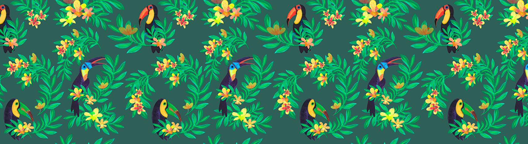 motif toucans Florie Nguyen Van