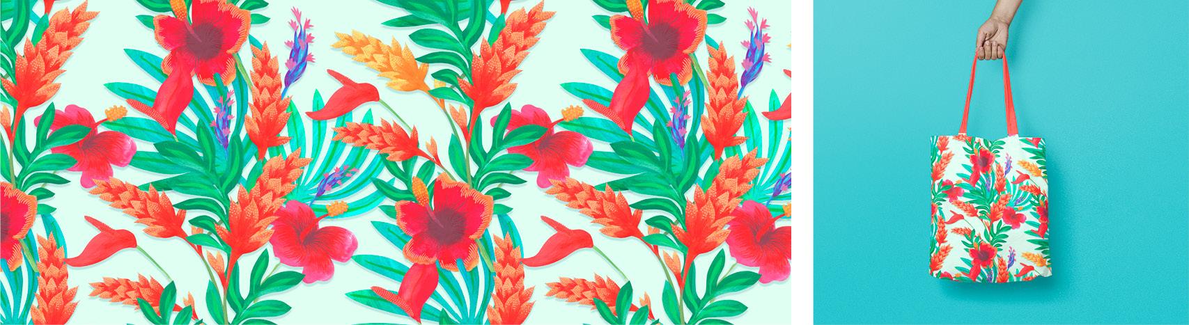 motif hibiscus Florie Nguyen Van