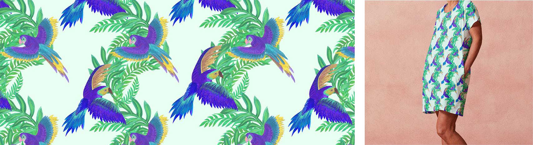 Motif perroquet par Florie Nguyen Van