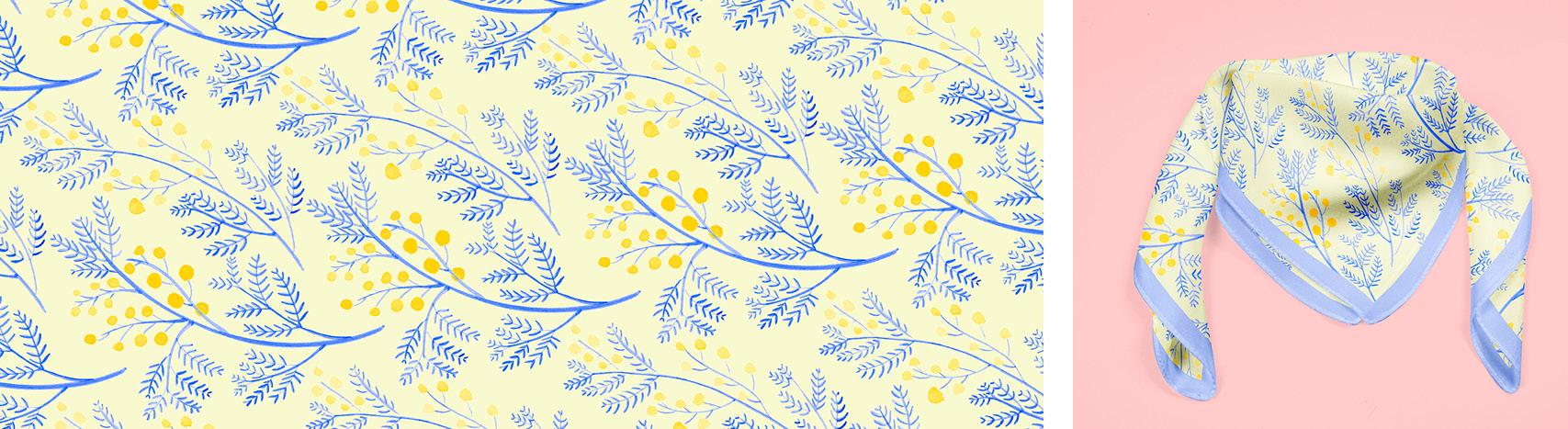 motif mimosa Florie Nguyen Van