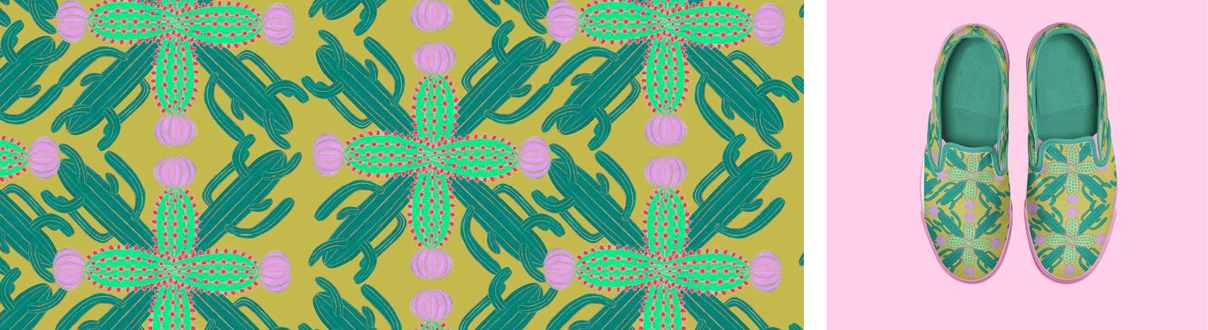 Motif cactus par Florie Nguyen Van