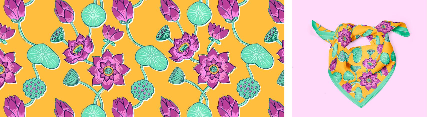 motif lotus Florie Nguyen Van