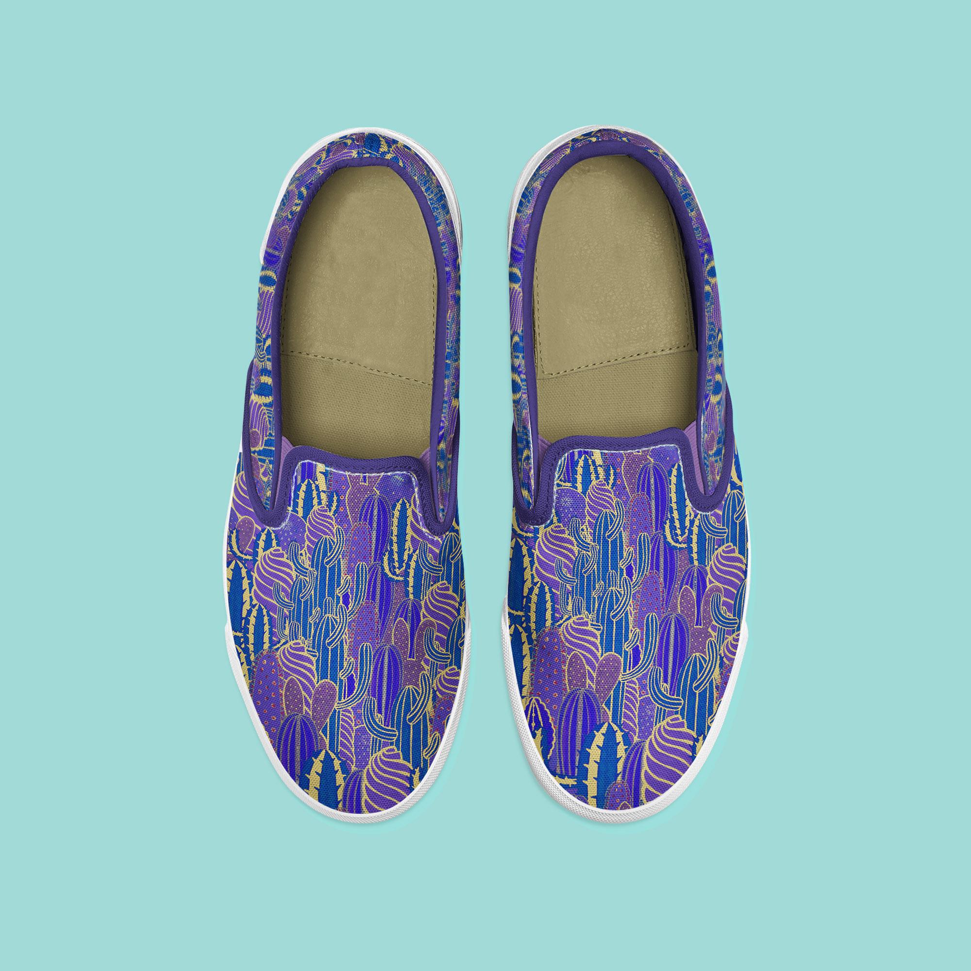 Chaussures motif cactus par Florie Nguyen Van, illustration au posca