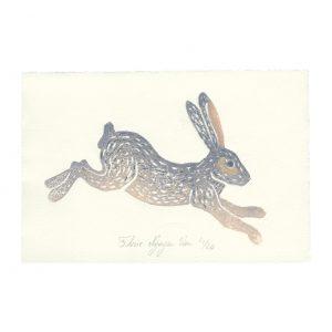 Linogravure lapin par Florie Nguyen Van